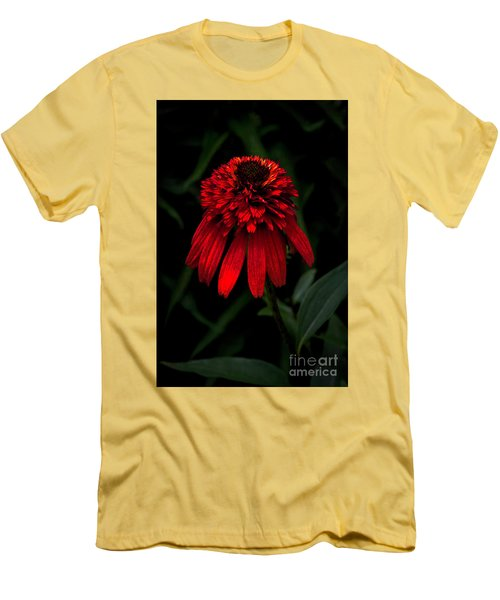 Men's T-Shirt (Slim Fit) featuring the photograph Tiki Torch by Judy Wolinsky