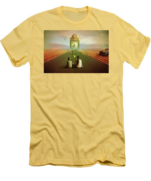 Men's T-Shirt (Slim Fit) featuring the digital art Time To Grow Up by Nathan Wright