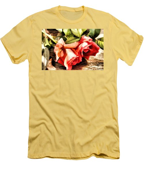 Timeless Tropicana Roses Men's T-Shirt (Athletic Fit)