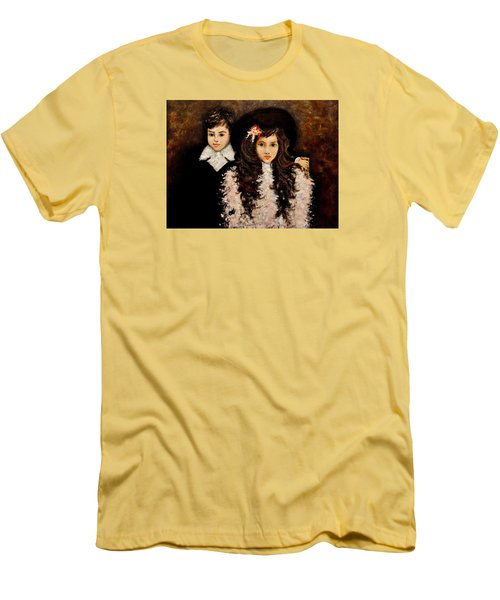 Men's T-Shirt (Slim Fit) featuring the painting Timeless..2 by Cristina Mihailescu