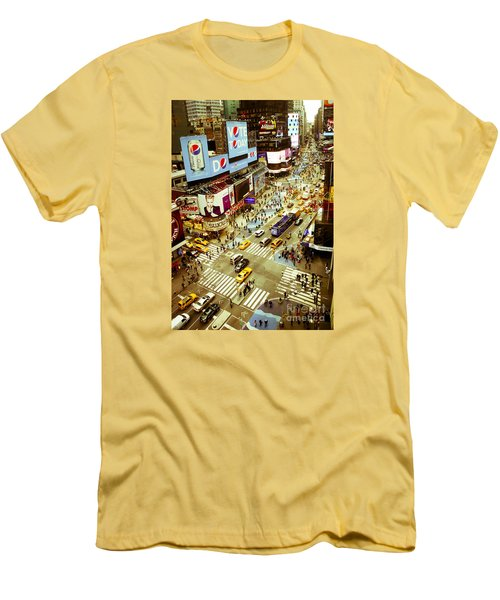 Times Square Traffic Men's T-Shirt (Slim Fit) by Perry Van Munster