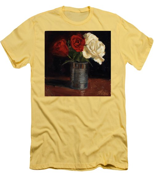 Men's T-Shirt (Slim Fit) featuring the painting Tin Can Love by Billie Colson