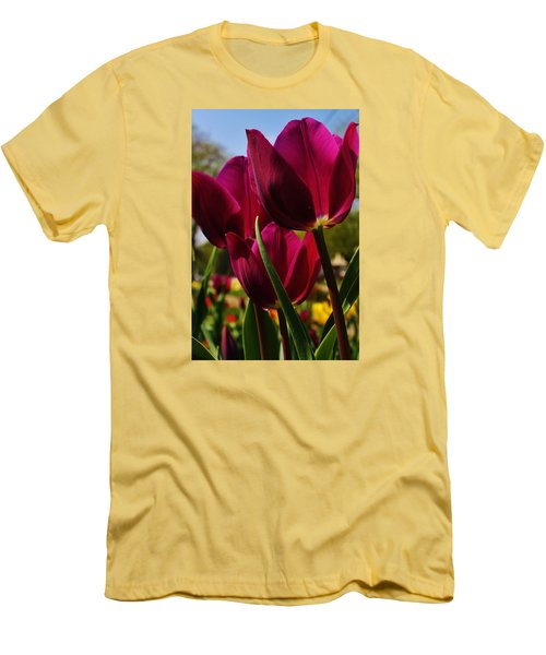 Tip Toe Through The Tulips Men's T-Shirt (Athletic Fit)