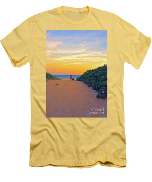 To The Beach Men's T-Shirt (Slim Fit) by Todd Breitling