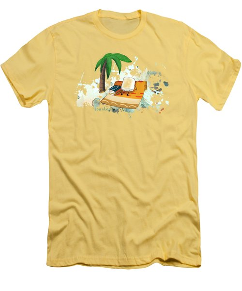 Toasted Illustrated Men's T-Shirt (Slim Fit) by Heather Applegate