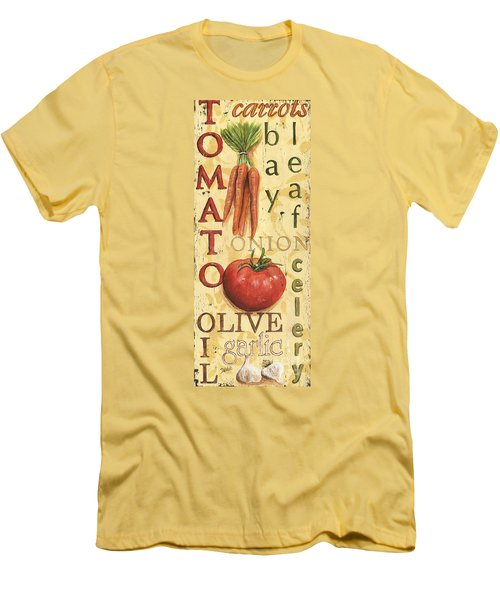 Tomato Soup Men's T-Shirt (Slim Fit) by Debbie DeWitt