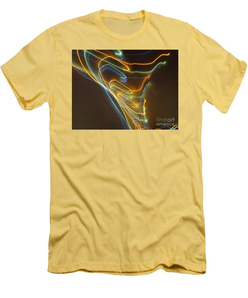Men's T-Shirt (Slim Fit) featuring the photograph Tornado Of Lights. Dancing Lights Series by Ausra Huntington nee Paulauskaite