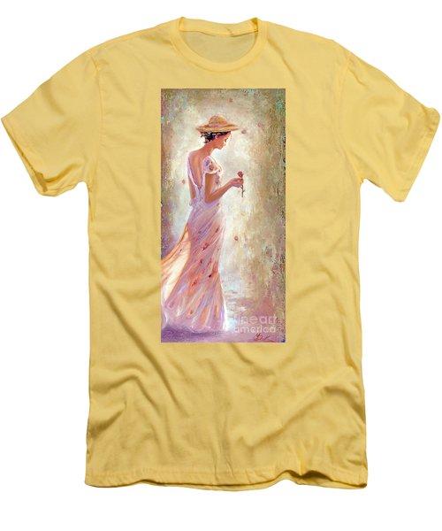 Toujours De Fleurs Men's T-Shirt (Slim Fit) by Michael Rock