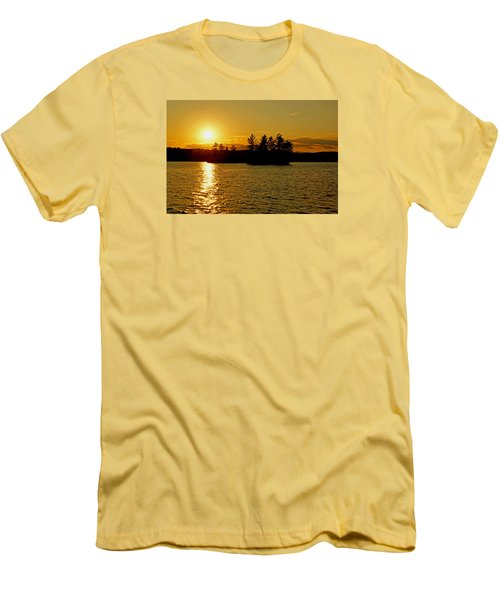 Men's T-Shirt (Slim Fit) featuring the photograph Towards Infinity by Lynda Lehmann