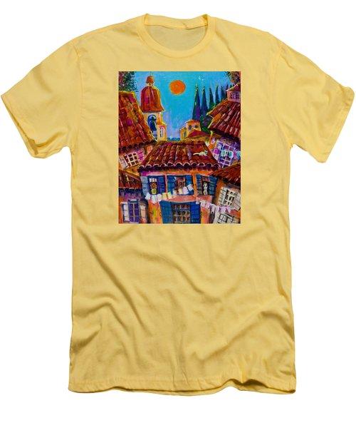 Town By The Sea Men's T-Shirt (Slim Fit) by Maxim Komissarchik