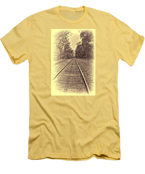 Tracks Through The Park Men's T-Shirt (Athletic Fit)