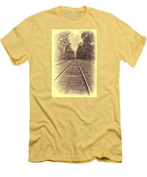 Tracks Through The Park Men's T-Shirt (Athletic Fit)
