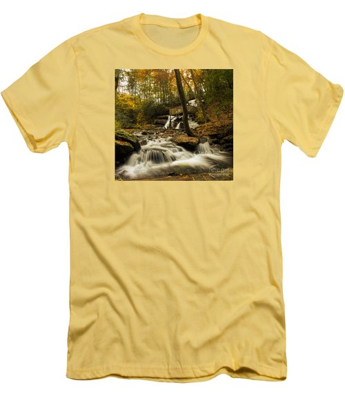 Trahlyta Falls Men's T-Shirt (Slim Fit) by Barbara Bowen