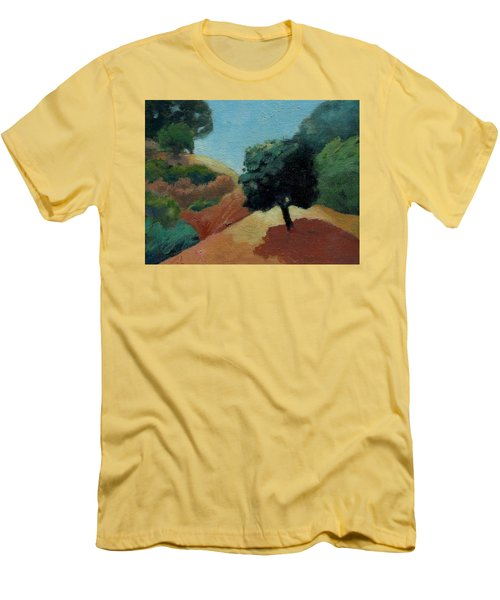 Men's T-Shirt (Slim Fit) featuring the painting Tree Alone by Gary Coleman