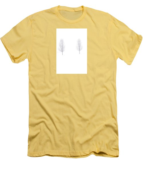 Men's T-Shirt (Slim Fit) featuring the photograph Trees And Snow by Daniel Thompson