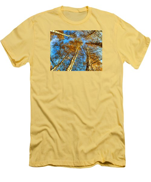 Trees Grow To The Sky Paint Men's T-Shirt (Slim Fit) by Odon Czintos