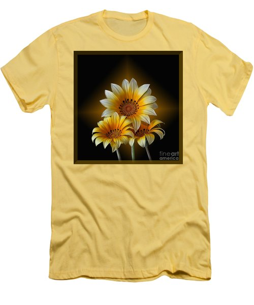 Triple Sunshine Black And Gold Men's T-Shirt (Slim Fit)