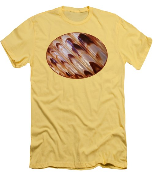 Triton Seashell Abstract Men's T-Shirt (Slim Fit) by Gill Billington
