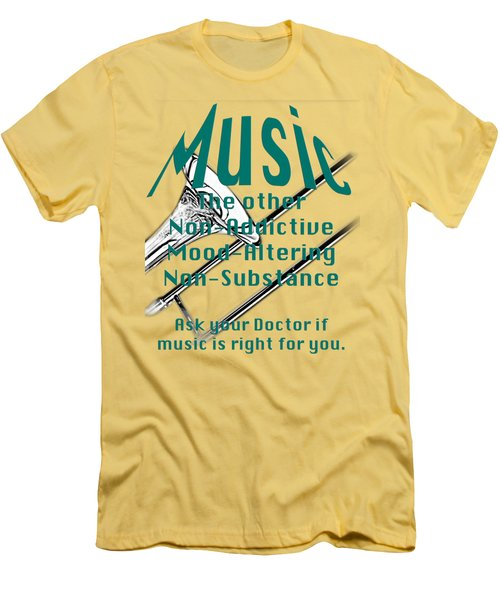 Trombone Music Is Right For You 5495.02 Men's T-Shirt (Athletic Fit)