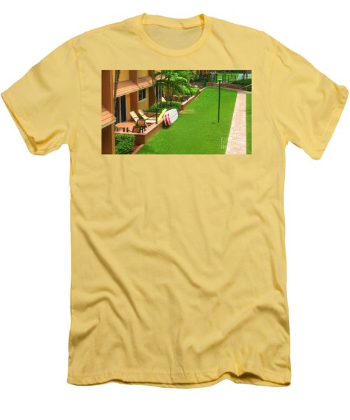 Tropical Courtyard Men's T-Shirt (Athletic Fit)