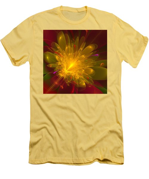 Men's T-Shirt (Slim Fit) featuring the digital art Tropical Flower by Svetlana Nikolova