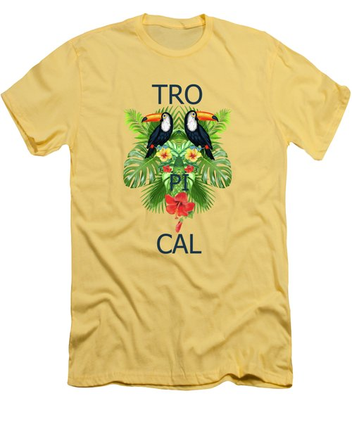 Tropical Summer  Men's T-Shirt (Athletic Fit)