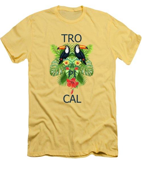 Tropical Summer  Men's T-Shirt (Slim Fit)