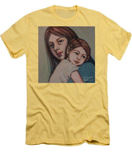 Men's T-Shirt (Slim Fit) featuring the painting Trying To Remember by Olimpia - Hinamatsuri Barbu