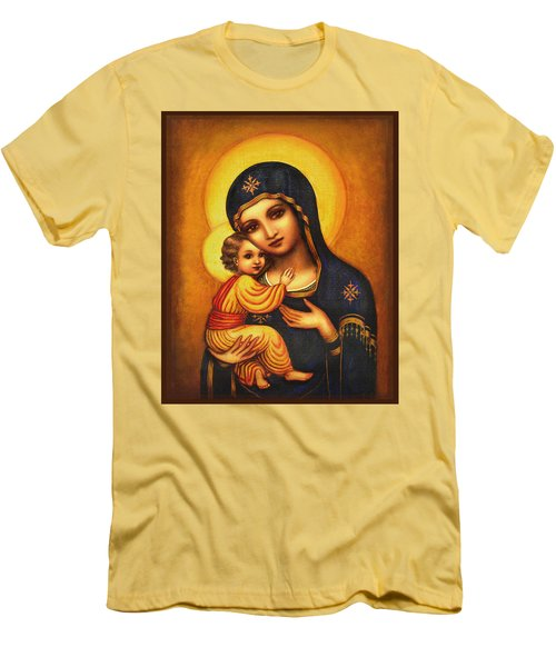 Tryptichon Madonna Men's T-Shirt (Slim Fit) by Ananda Vdovic