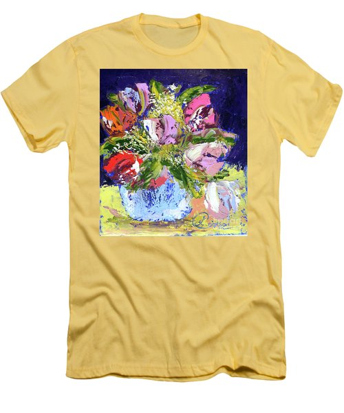 Tulips And Gypsophila Men's T-Shirt (Athletic Fit)