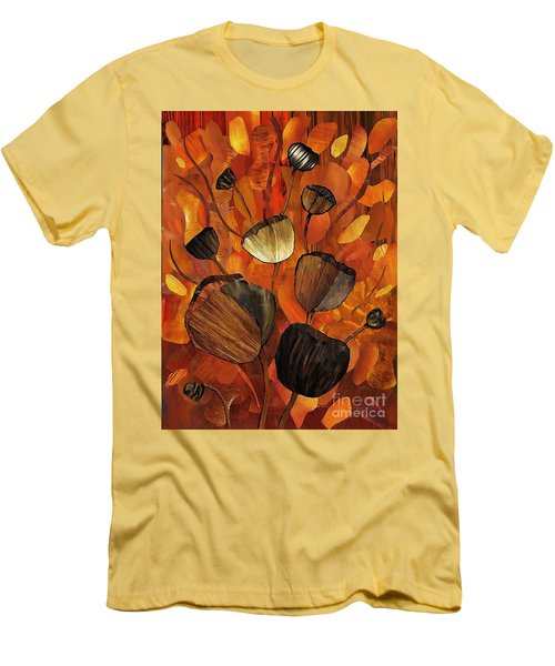 Tulips And Violins Men's T-Shirt (Slim Fit) by Sarah Loft