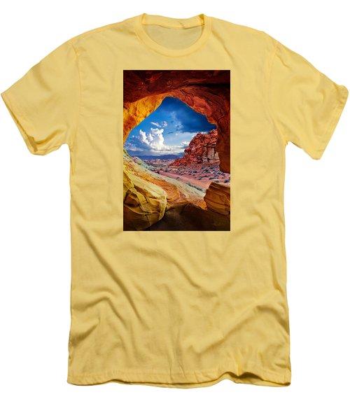 Tunnel Vision Men's T-Shirt (Slim Fit) by Renee Sullivan