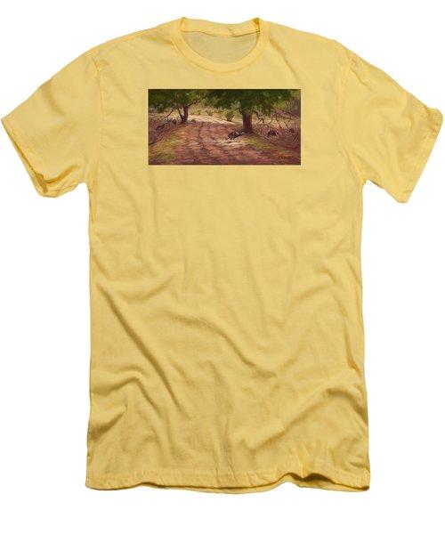 Turkey Tracks Men's T-Shirt (Slim Fit) by Jane Thorpe