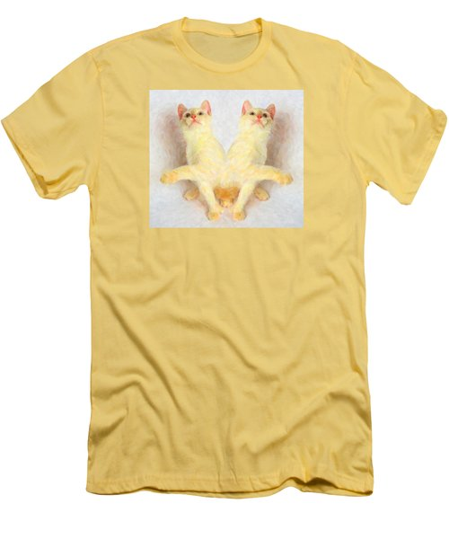 Twin Cats Men's T-Shirt (Slim Fit) by Andre Faubert