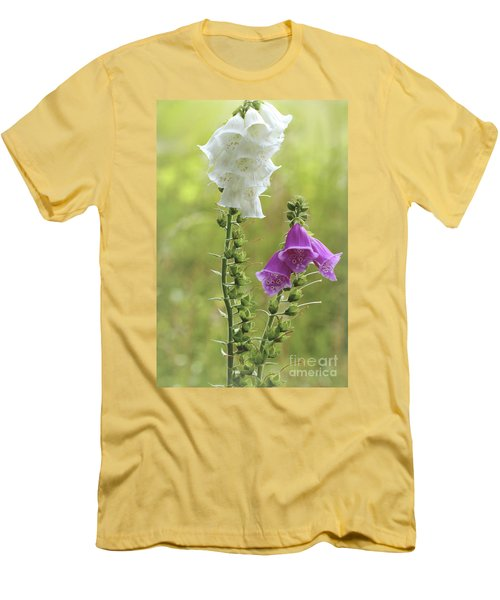Twin Foxgloves Men's T-Shirt (Athletic Fit)