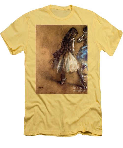 Two Dancers Men's T-Shirt (Slim Fit) by Degas