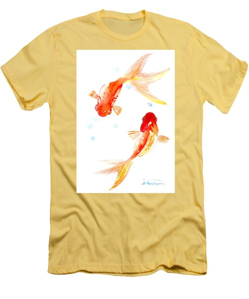Two Goldfish Feng Shui Men's T-Shirt (Athletic Fit)