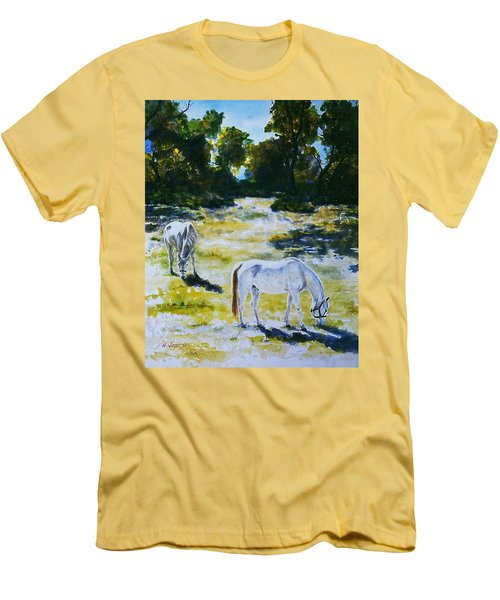 Sunlit Men's T-Shirt (Slim Fit) by Hartmut Jager