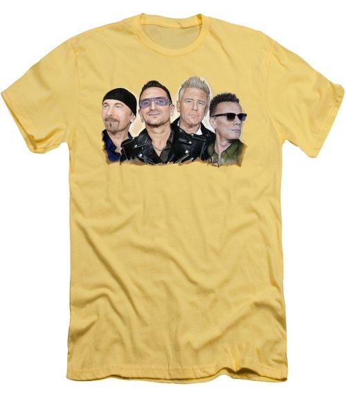 U2 Band Men's T-Shirt (Athletic Fit)