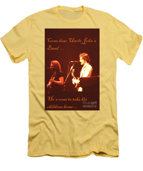 Men's T-Shirt (Slim Fit) featuring the photograph Come Hear Uncle John's Band by Susan Carella