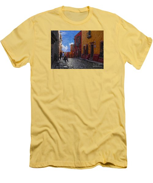 Under A Van Gogh Sky Men's T-Shirt (Slim Fit) by John Kolenberg