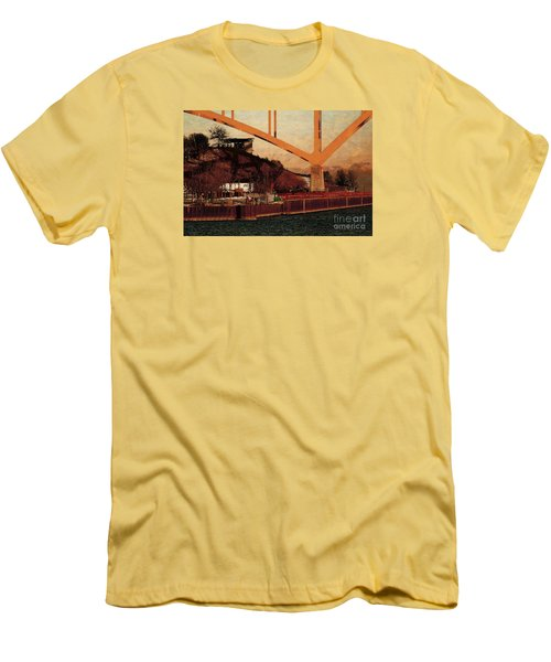Men's T-Shirt (Slim Fit) featuring the digital art Under The Hoan by David Blank