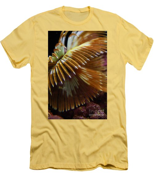 Underwater Feathers Men's T-Shirt (Athletic Fit)