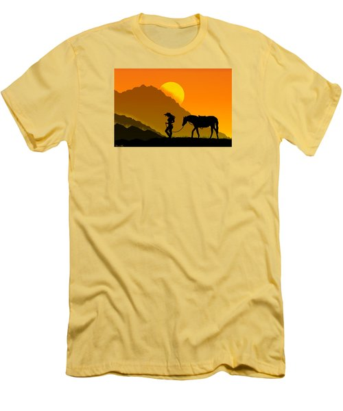 Men's T-Shirt (Slim Fit) featuring the digital art Unforgiven by Bernd Hau