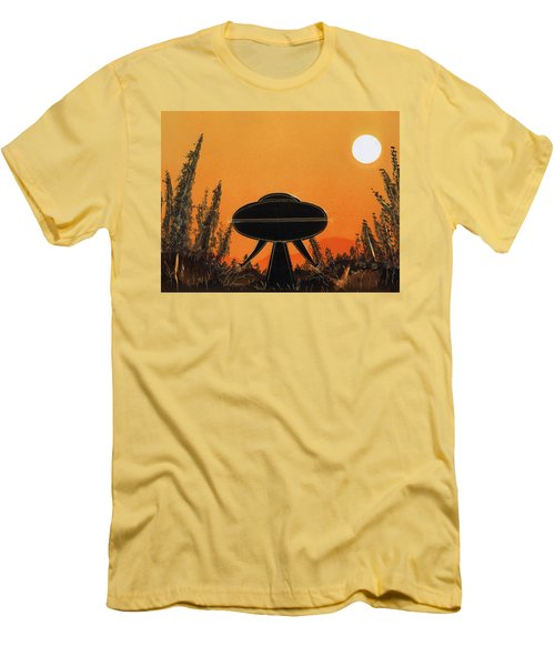 Unidentified Flying Object Landing Men's T-Shirt (Athletic Fit)