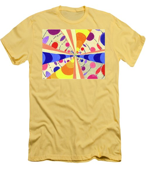 Men's T-Shirt (Slim Fit) featuring the drawing Universals by Kim Sy Ok