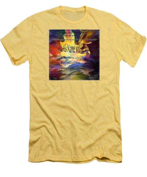 Unto Us Men's T-Shirt (Slim Fit) by Margie Chapman