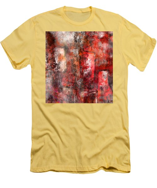 Men's T-Shirt (Slim Fit) featuring the mixed media Urban #5 by Kim Gauge