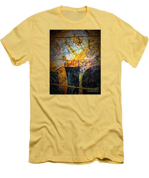 Urban Grunge Three Men's T-Shirt (Slim Fit) by Ken Frischkorn