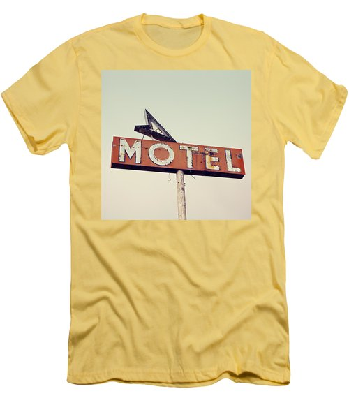 Vacancy Vintage Motel Sign Men's T-Shirt (Athletic Fit)